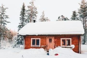 decoración de escenarios con nieve artificial